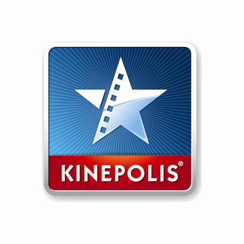 Een witte ster tegen een blauwe achtergrond en daaronder staat een rode balk met in grote witte letters Kinepolis