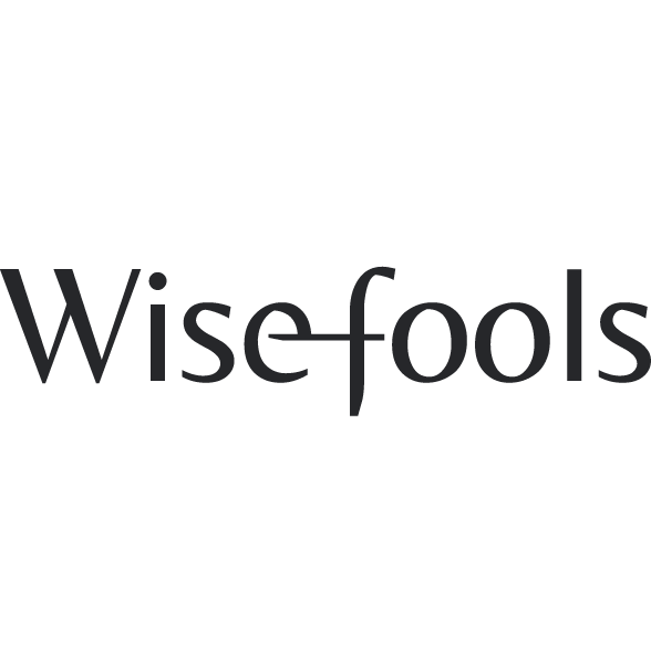 The logo consists of the name Wisefools with a connection between the letters e and f.